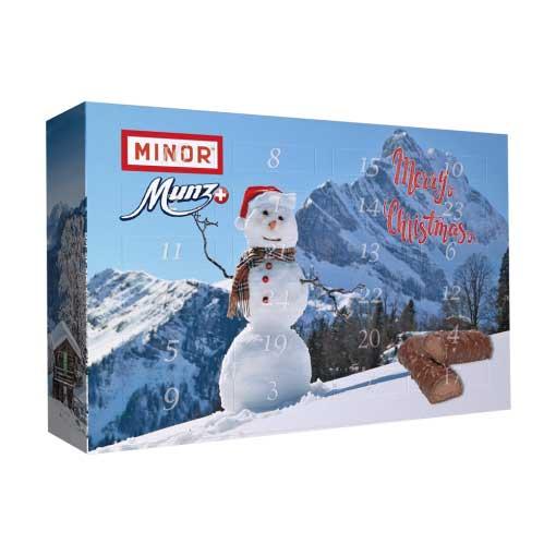 Schokoladen Weihnachtskalender.Schokoladen Süßigkeiten Snack Adventskalender Schweizer Schoggi Schokoladen Adventskalender 547g