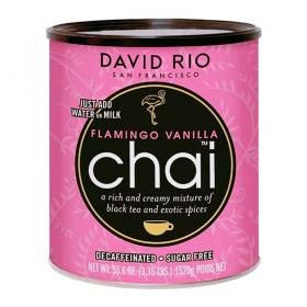 David Rio Chai Latte Tee Flamingo Vanilla Decaf Sugar Free ~ 1520g