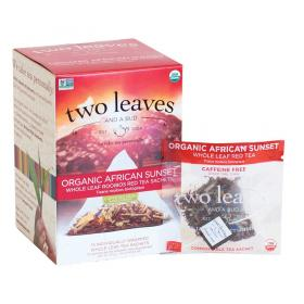 two leaves and a bud Bio African Sunset Rooibos Tee ~ 15 Teebeutel