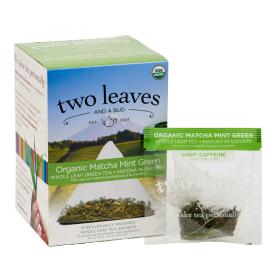two leaves and a bud Bio Matcha Minze Grüntee ~ 15 Teebeutel